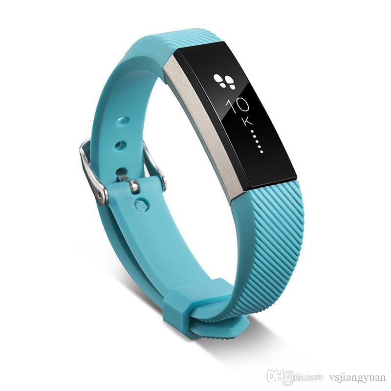 Reemplazo de silicona caliente correas banda para Fitbit Alta reloj pulsera clásico Neutro inteligente correa de muñeca de la venda con la aguja de cierre 12 colores