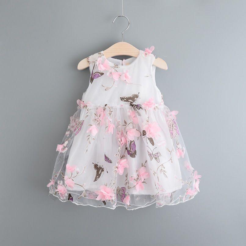 Детская одежда Kid Girl Летнее платье Девушка Pageant Свадебное платье Кружево Цветочное платье