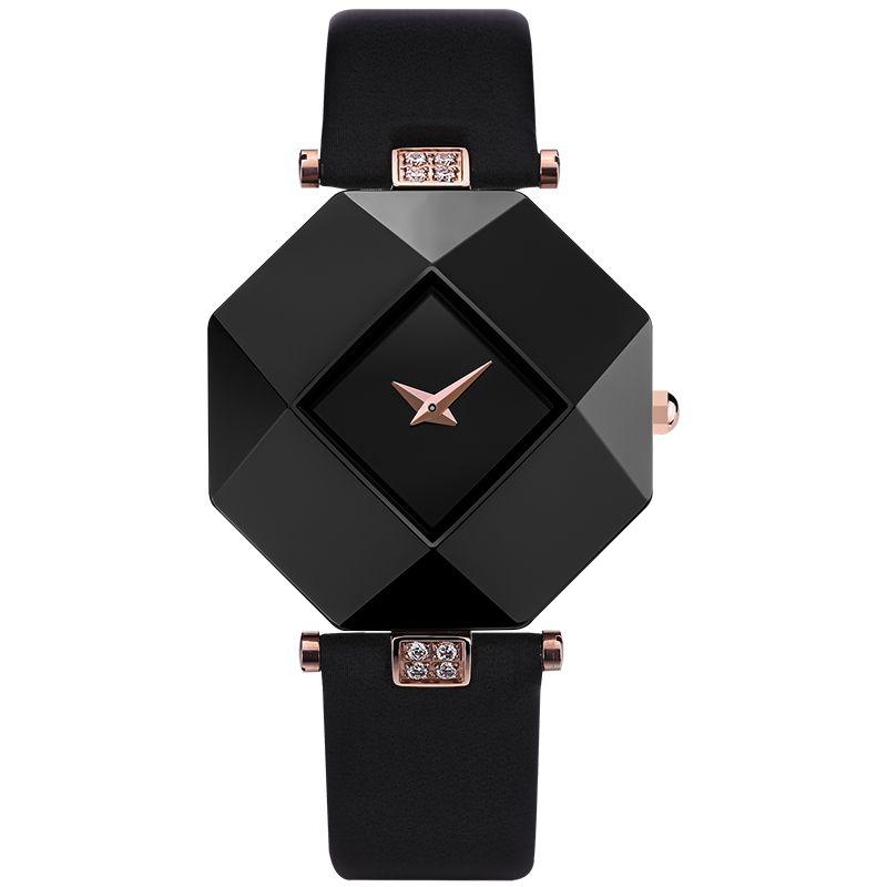 2020 Hot Verkauf Luxus Frauen Uhr neuer Art und Weise Frauen-Kleid-Uhren Keramik-Gehäuse Lederband Relogio Feminino Dame-Quarz-Armbanduhr BRW