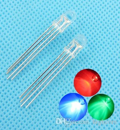 관통 구멍 5mm 4Pin 트라이 - 컬러 RGB 일반적인 음극선 LED 승진 할로윈 pb 무료 장식