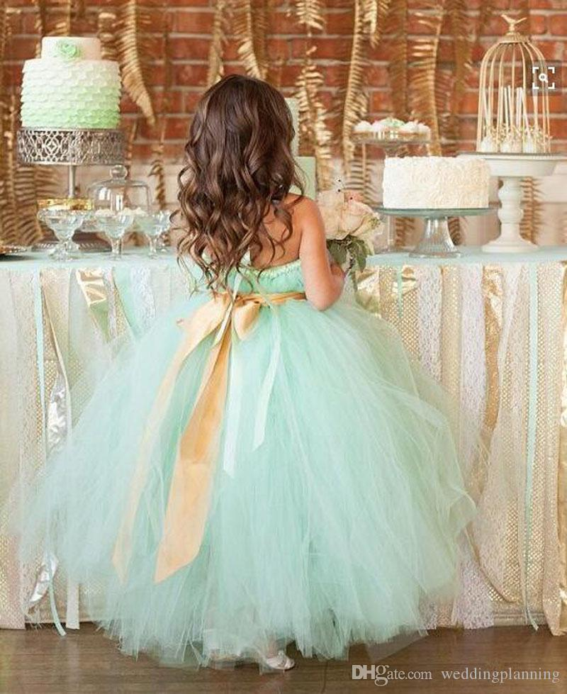 Tutu Tulle Lace Kids Formal Wedding Preganent Dress Party Wear Cheap Skirts Flower Girl Dresses Free Shipping