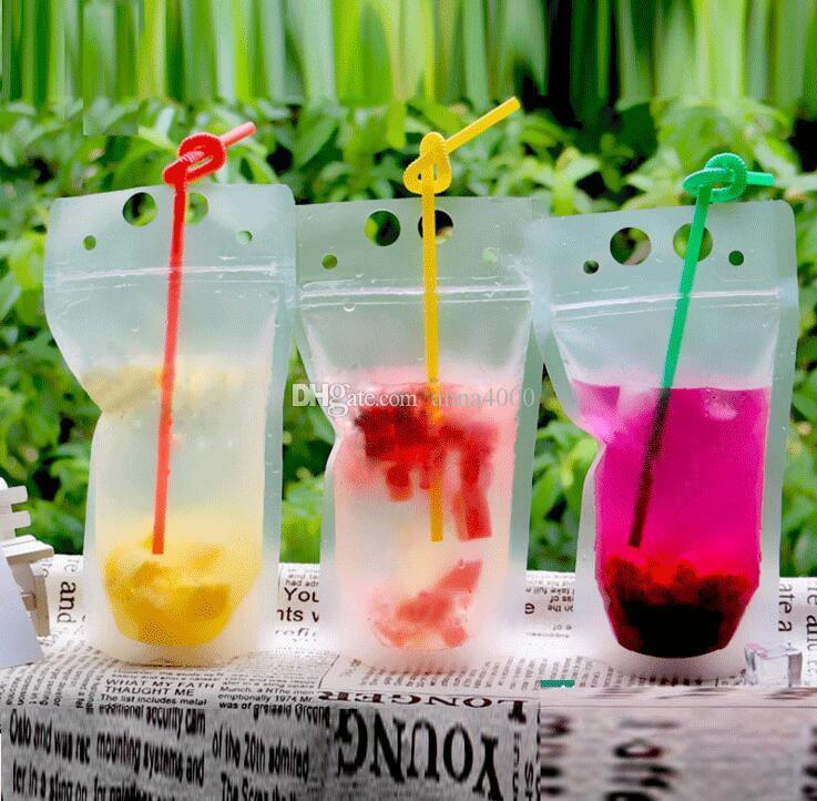 500pcs 450ml Sacchetto di bevande di plastica auto sigillato trasparente Sacchetto di bevanda contenitore di bere sacchetto di frutta contenitore di bere cibo
