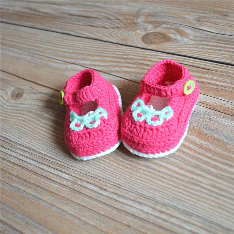 Großhandel Hochwertige Baby Häkeln Sneakers Schuhe Schuh Booties ...