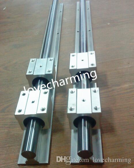 4 rails+ 8 SBR16UU blocks linear rail SBR16-900//1200mm