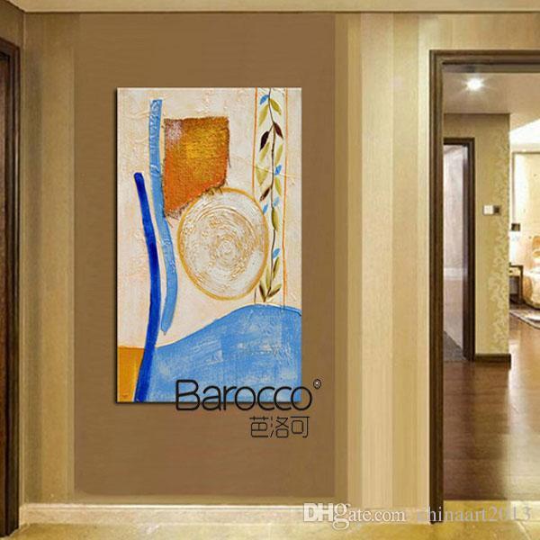 Peint à la main moderne simple peinture à l'huile sur toile épaisse conception unique abstraite modèle peintures maison art mural décoration