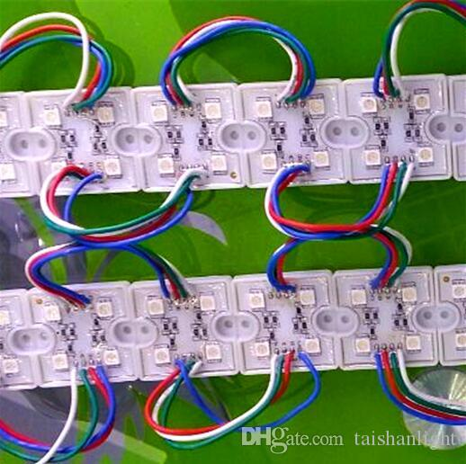 4LED Led C 백라이트 5050 Led 조명 모듈 RGB 픽셀 정사각형 아이언 Led 채널 레터 광고 빛