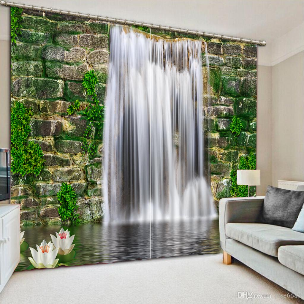 High Quality Customize size Modern curtains for living room brick  waterfall fashion decor home decoration for2017 High Quality Customize Size Modern Curtains For Living Room  . Living Room Waterfall. Home Design Ideas