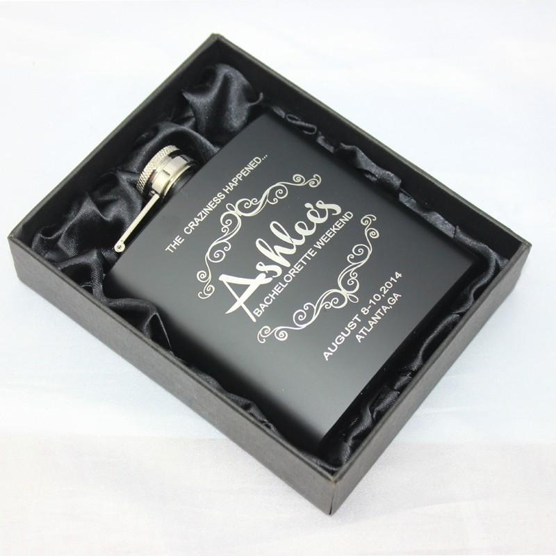 6 oz personalized stainless steel hip flask