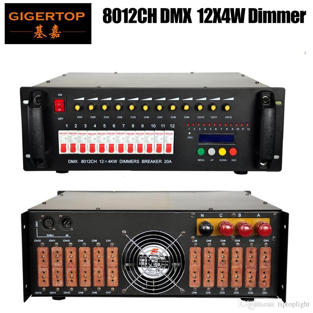 Freeshipping 8012CH DMX 12CH X 4KW Digital Dimmers System sterowania oświetleniem 1602 Wyświetlacz LCD 12 Loop Air Cooling AC100V-220V