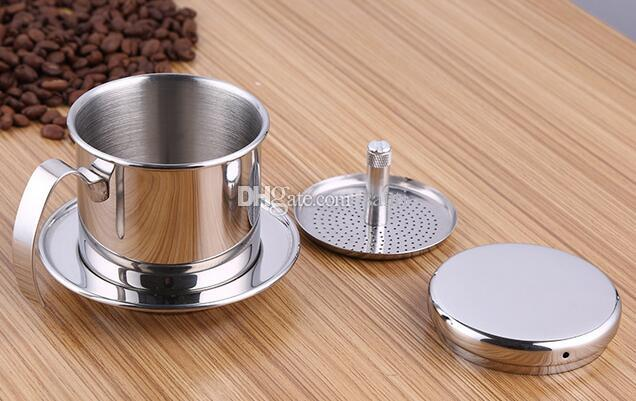 2020 New Vietnam Style Coffee Mug Cup Jug Stainless Steel Metal Vietnamese Coffee Drip Cup Filter Maker Strainer Cool Perfect From Santi 6 92 Dhgate Com