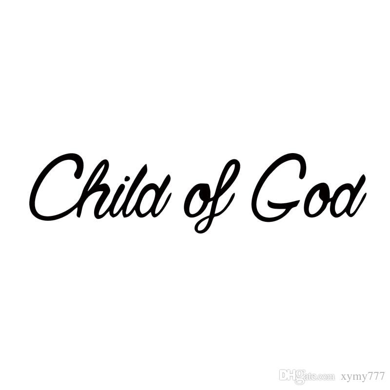For Child Of God Vinyl Decal Sticker Car Styling Car Window Jdm Bumper Jesus Cross Love Accessories Decorate