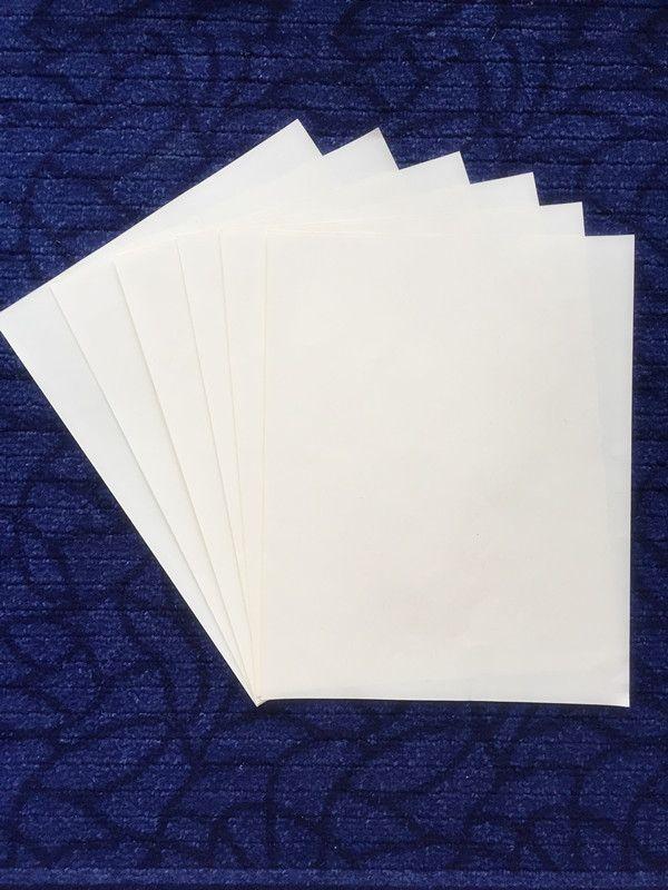 Printinng Paper 75%コットン25%リネンなし赤と青の繊維の防水ペーパーA4サイズの白い色