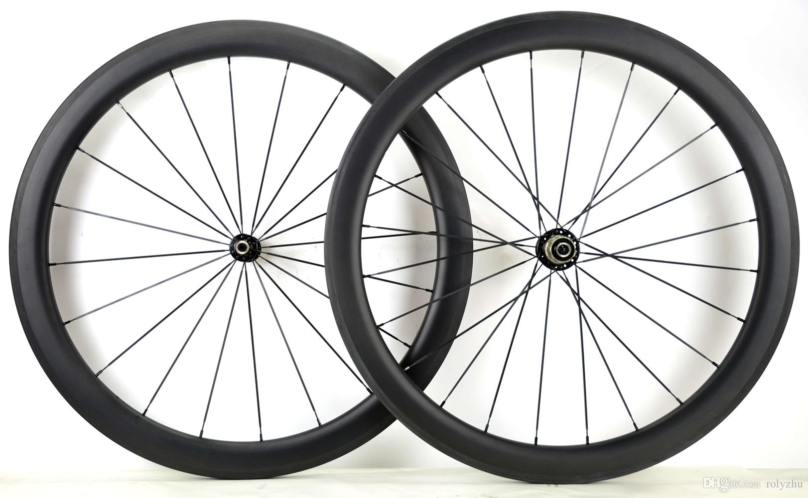 Free shipping 700C 50mm depth road bike carbon wheelset 25mm width clincher carbon wheels with powerway R36 hub UD matte finish