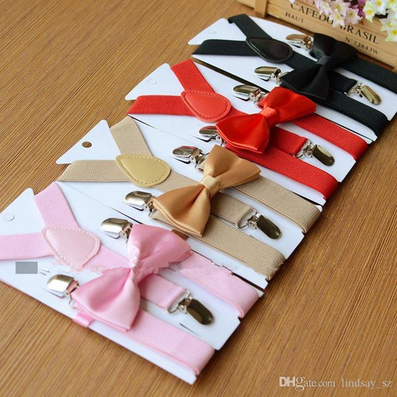26 renkler Çocuklar Jartiyer Papyon Seti 1-10 T için Bebek Parantez Elastik Y-geri Erkek Kız Jartiyer aksesuarları hızlı kargo