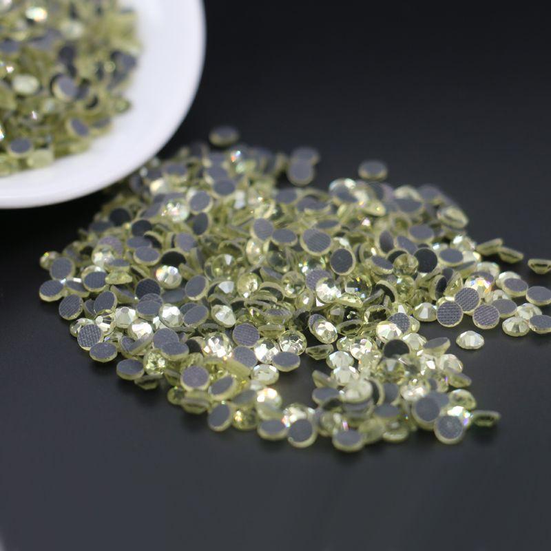 SS6, SS10, SS16 Dmc железа на исправление Кристалл стразы Алмаз драгоценные камни Оптовая DMC исправление круглый горный хрусталь топ продажа (Jonquil)