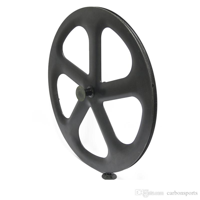 Factory outlet Full Carbon five Spokes Track Bicycle Wheel 5 spoke wheelset fixed gear carbon five spokes wheels 700C clincher tubular