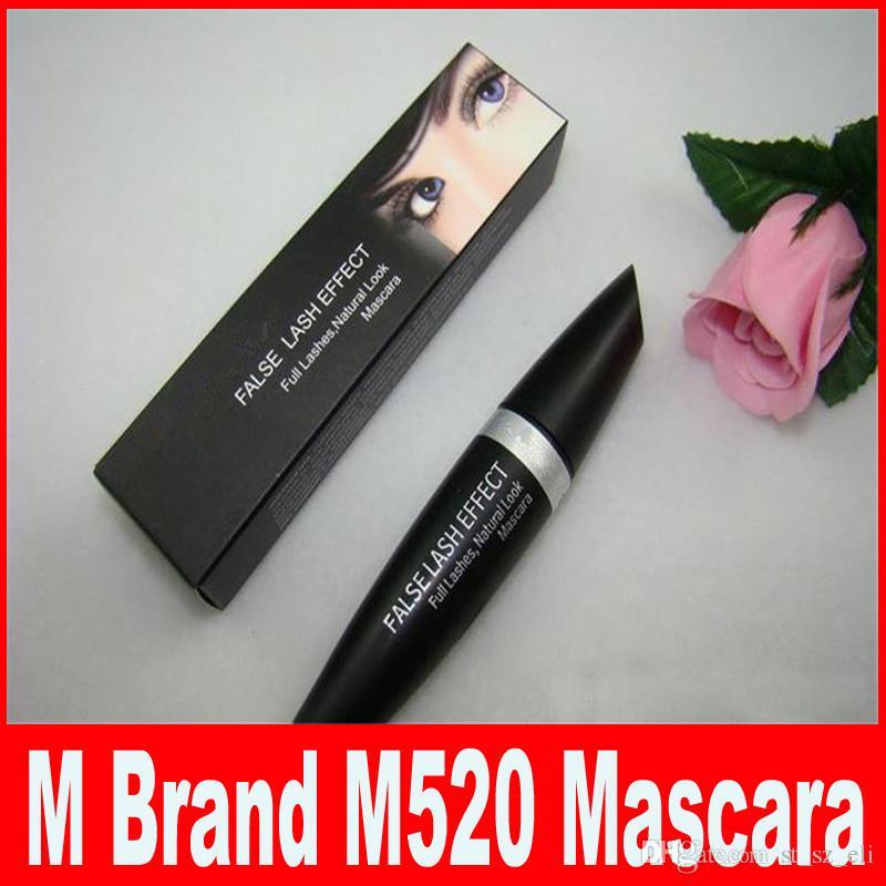 M Brand Makeup Mascara False Lash Effect Full Lashes Natural Mascara Black Waterproof M520 Eyes Make Up DHL Free Shipping.