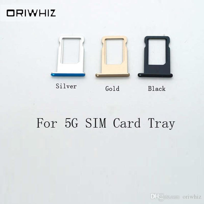 New Arrival High Quality SIM Card Tray for iPhone 5 5G Support Mix Order Silver White Black