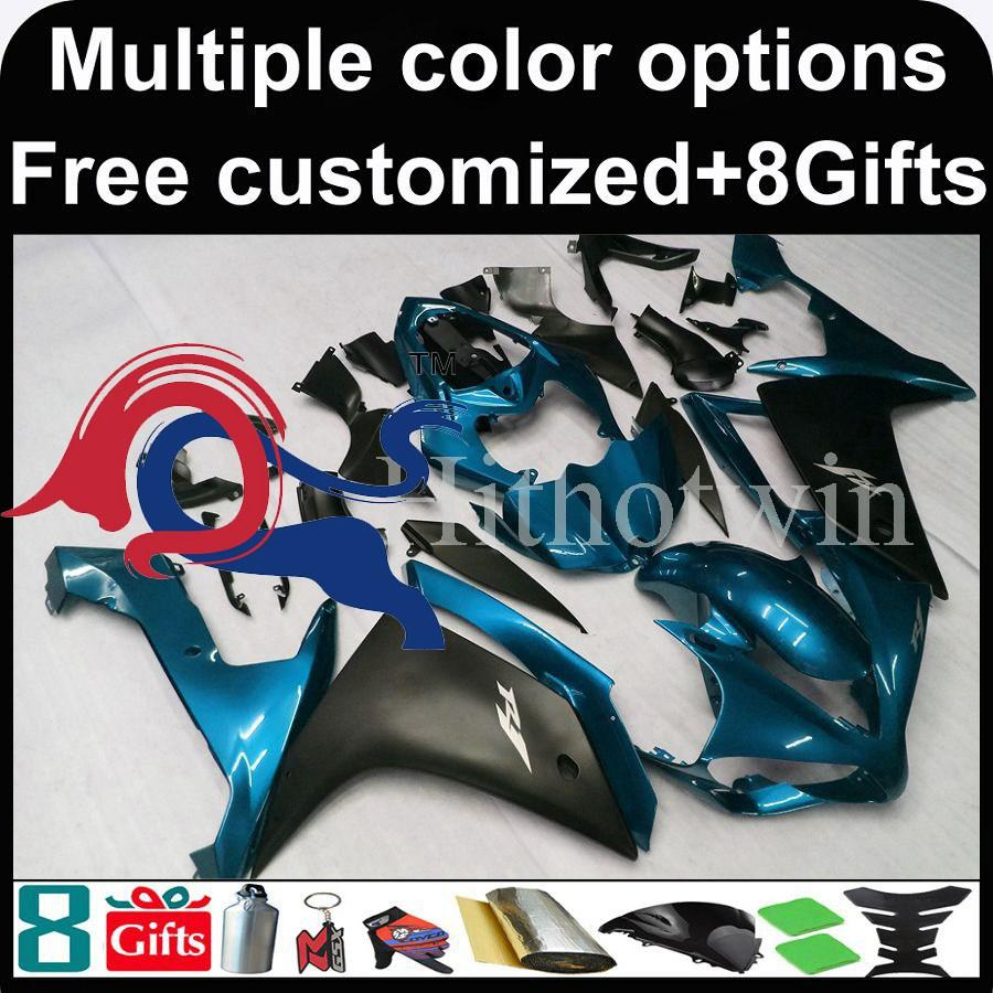 blue black set motorcycle cowl for Yamaha YZF-R1 2007-2008 07 08 YZFR1 2007 2008 07-08 ABS Plastic Fairing