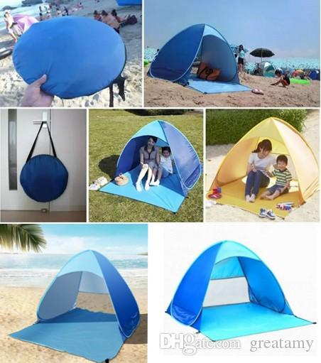 superior quality cf519 748f3 2019 DHL 2 Person Beach Tent Automatic Pop Up With UV Proof Ultralight  Folding Tent For Outdoor Beach Folding Tent Camping Tents From Greatamy, ...