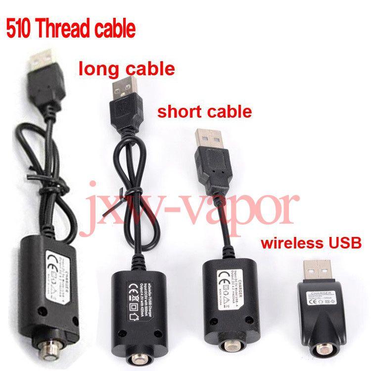 Sem fio Ego Carregador USB Para Ecig Ego T Evod 510 Fio Visão Spinner Esmart O Caneta Vape Bateria Universal Cabo USB Cabo Carregador