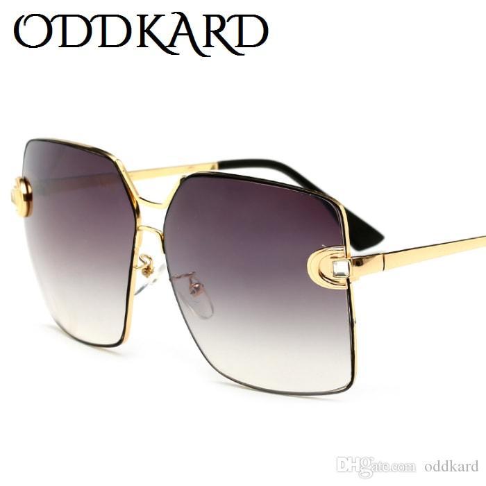 ODDKARD النظارات الشمسية للأزياء الراقية للرجال والنساء الكلاسيكية العلامة التجارية مصمم ساحة نظارات شمس oculos de sol UV400