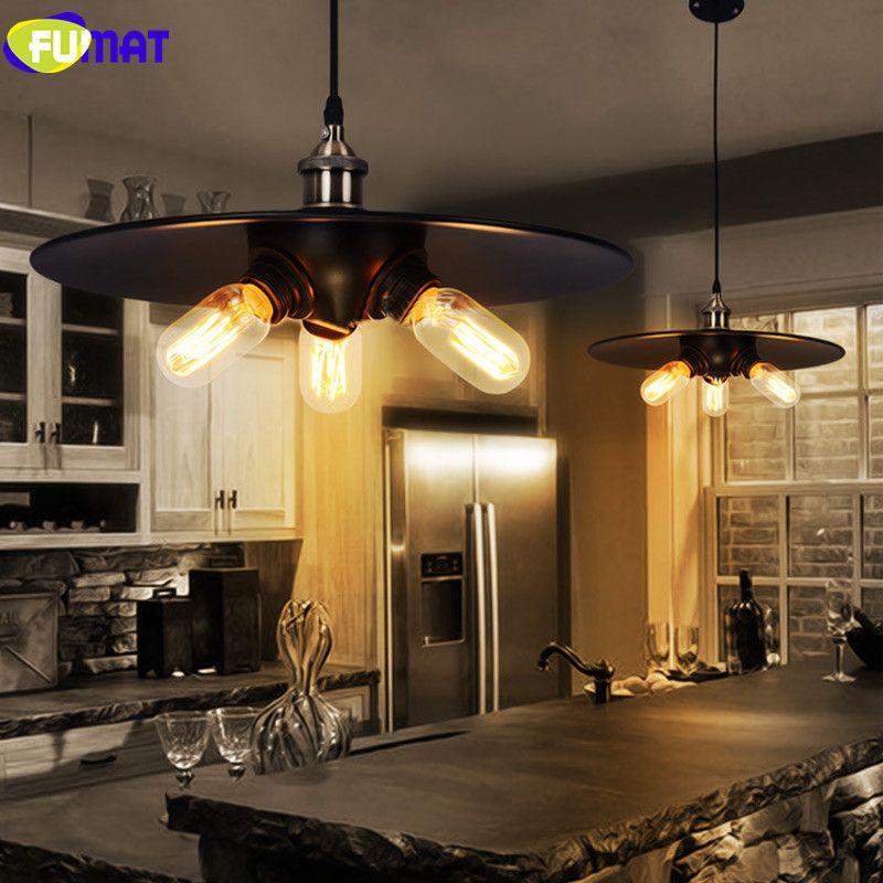 Fumat Wisiorek Light Metal Zawieszenie Oprawa Vintage Czarny Wisiorek Lampa Drut Przemysłowy Loft Jadalnia Długa Wisząca Lampa
