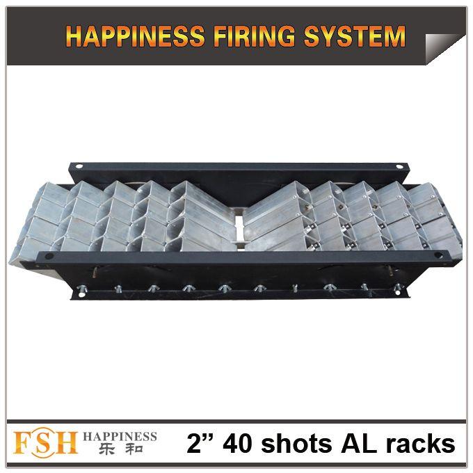 FedEX / DHL бесплатная доставка, 1 шт. / лот, 2 дюйма 40 выстрелов Al стойки для фейерверков, минометные трубы стойки, один выстрел