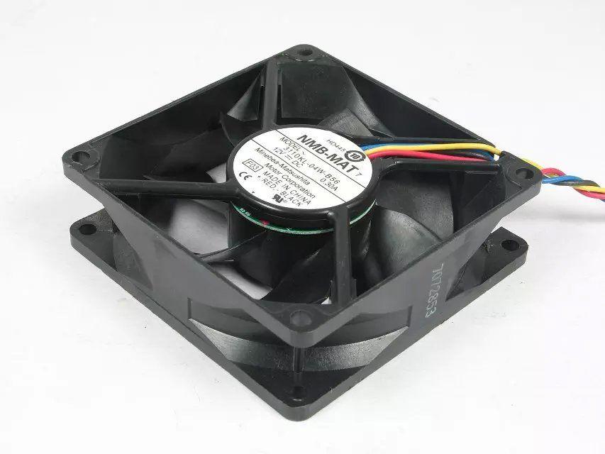 Freies Verschiffen für NMB 3110KL-04W-B56 F03 DC 12V 0.3A 4-Draht 5-poliger Stecker 80mm 80X80X25mm Server Square Lüfter