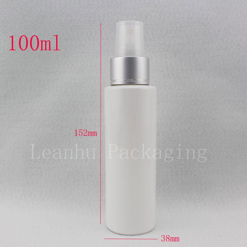 100 ml Kunststoff Spray weiße Flasche kosmetische Reise Container Nebel Spray, Feine Sprayer Kunststoff Flaschen Parfüm Reise Flasche