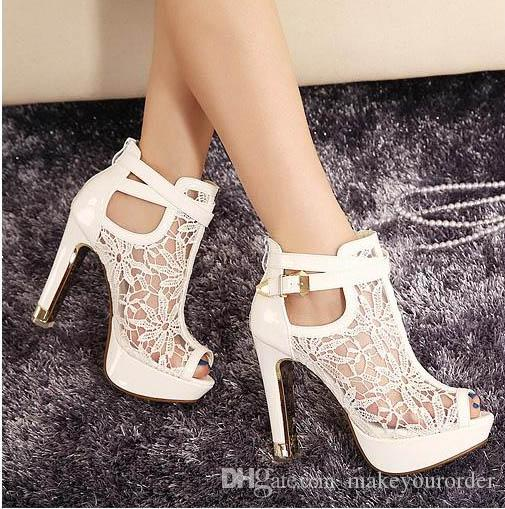 wholesaler factory price free shipping lace water proof platform high heel sexy fish mouth horsehair women lady shoe