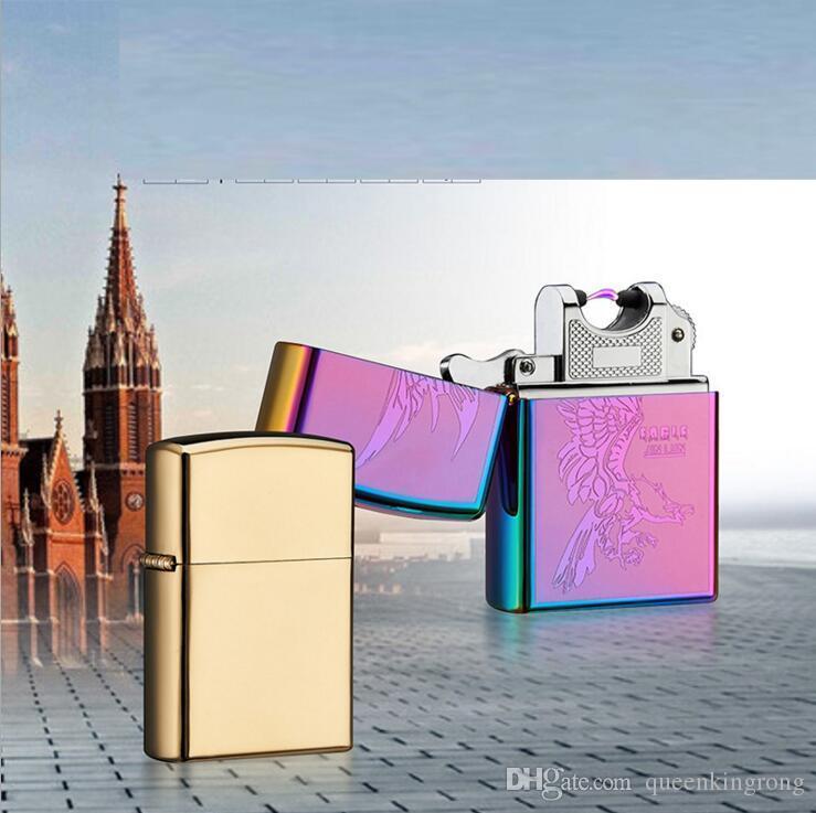 아크 라이터 금속 USB 충전식 Flameless 전기 전자 방풍 시가 담배 라이터 흡연 액세서리 도구