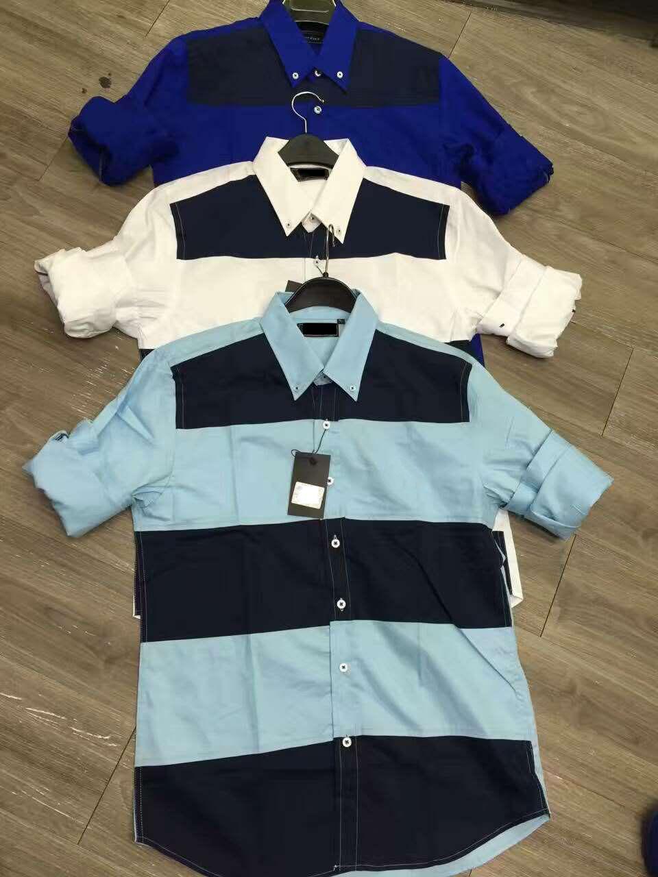 Shirt design for mens -  2017 New Autumn Shirts Short Tee Casual Custom Online Men Shirt Design Colour Mens Print Patchwork