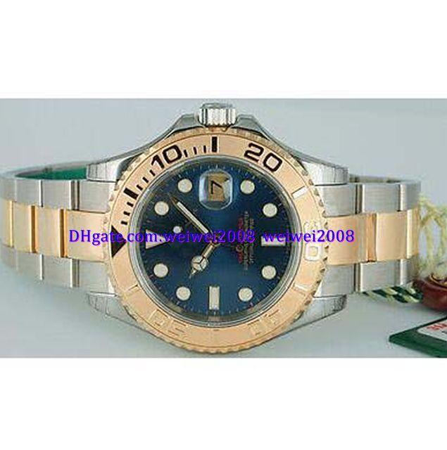 orologio Orologio da polso di lusso nuovo arriva Mai consumato uomo 18kt oro SS Quadrante Blu - 16623