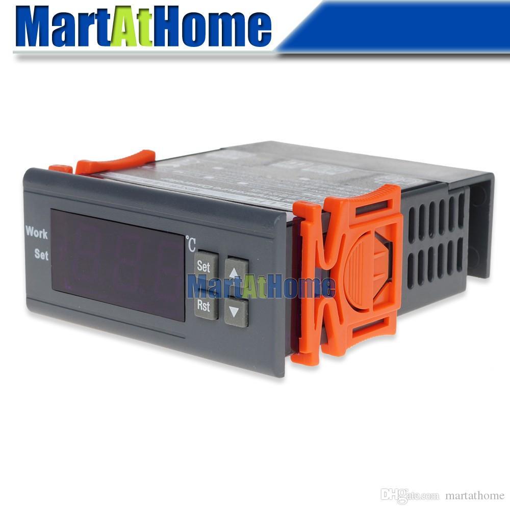 WH7016C 12/24/110 / 220V -50 ~ 110 Termostato digitale Celsius termostato elettronico con sonda per acquario, rettile, terreno caldo CF