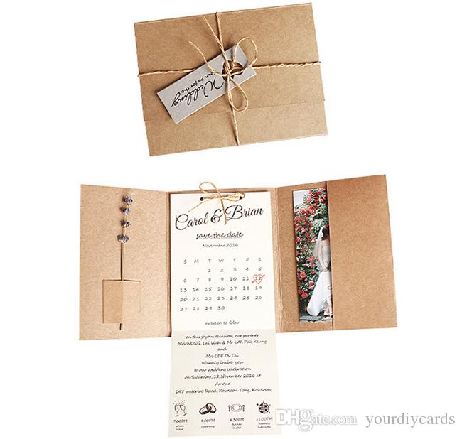 new pocket fold invitation rustic wedding cards printed wedding