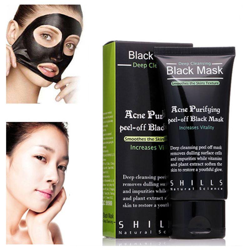 SHILLS Arındırıcı Peel-Off Maske Derin Temizlik Siyah Shills Maske Gözenek Temizleyici 50 ml Siyah Nokta Yüz Maskesi