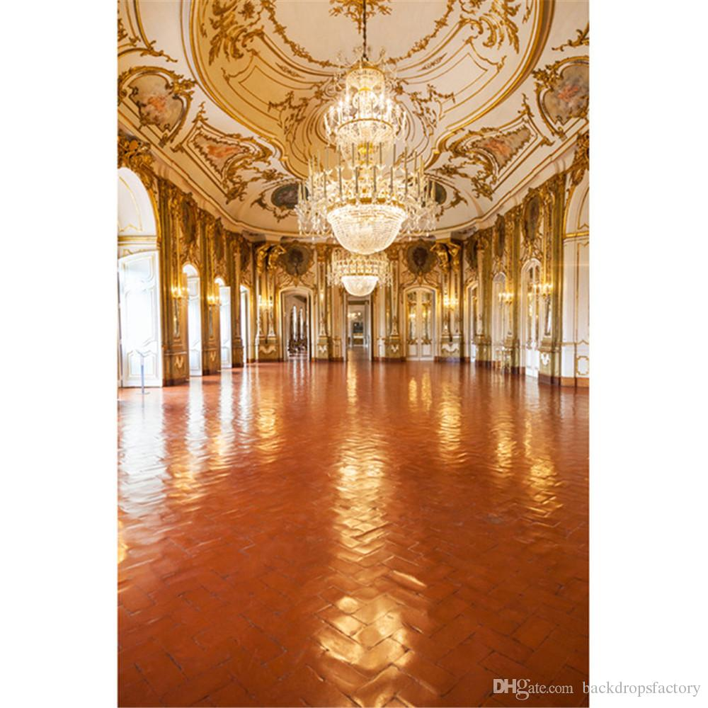 2020 Vinyl Photography Backdrop Palace Luxury Crystal Chandelier