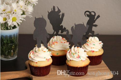 Lovely Where the Wild Things Are Wild One Cupcake toppers birthday bridal shower Wedding engagement Bachelor party Decoration toothpicks