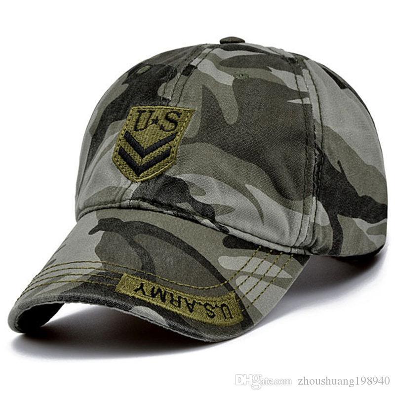 b7dfc9861fc78d High Quality US Army Cap Camo Mens Baseball Cap Brand Tactical Cap Mens Hats  and Caps Gorra Militar for Adult