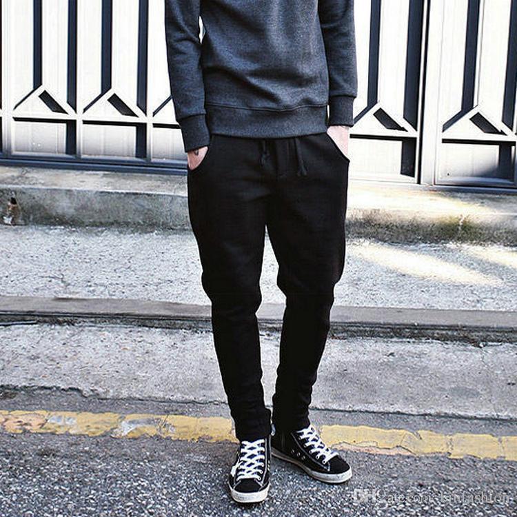 NEW Men Korea Casual Harem Baggy Hip Hop Dance Taper Sport Sweat Pants Sweatpants Trousers Slack Joggers Wholesale Free Shipping