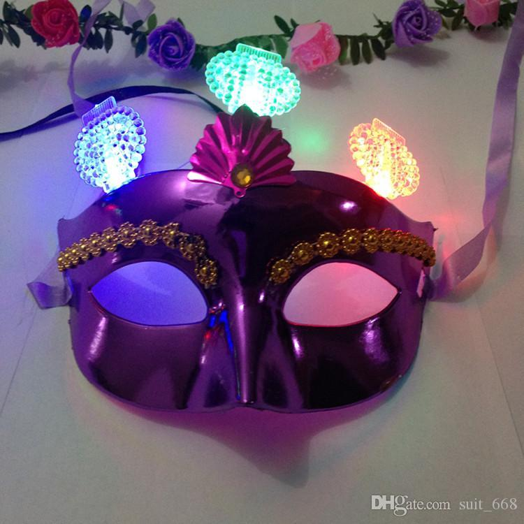 공장 직접 멀티 스타일 응원 소품 빛나는 마스크 댄스 마스크 도매 LED가 발광 안경