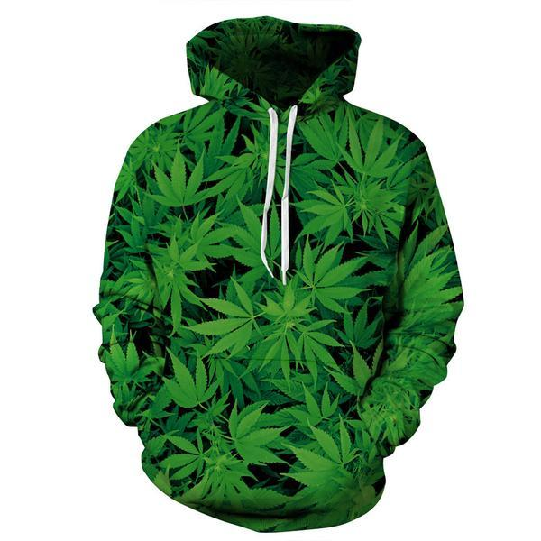 Wholesale- new arrival 2017 Creative 3D Print Leaves Men Sweatshirt Fashion Wear Moletom Character Pullover Plus Size 5XL