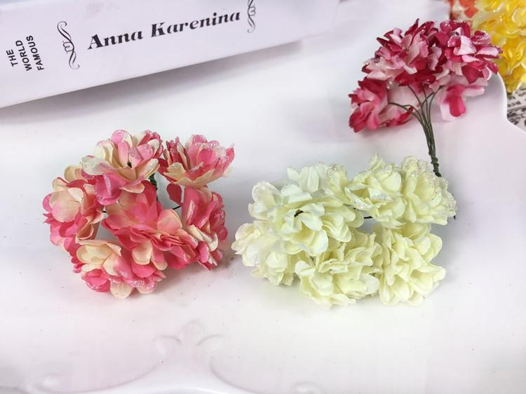 Artificial Paper Bouquet flower for Wedding Decor Candy Box Flowers Accessories for Table Centerpieces 144pcspack (12)