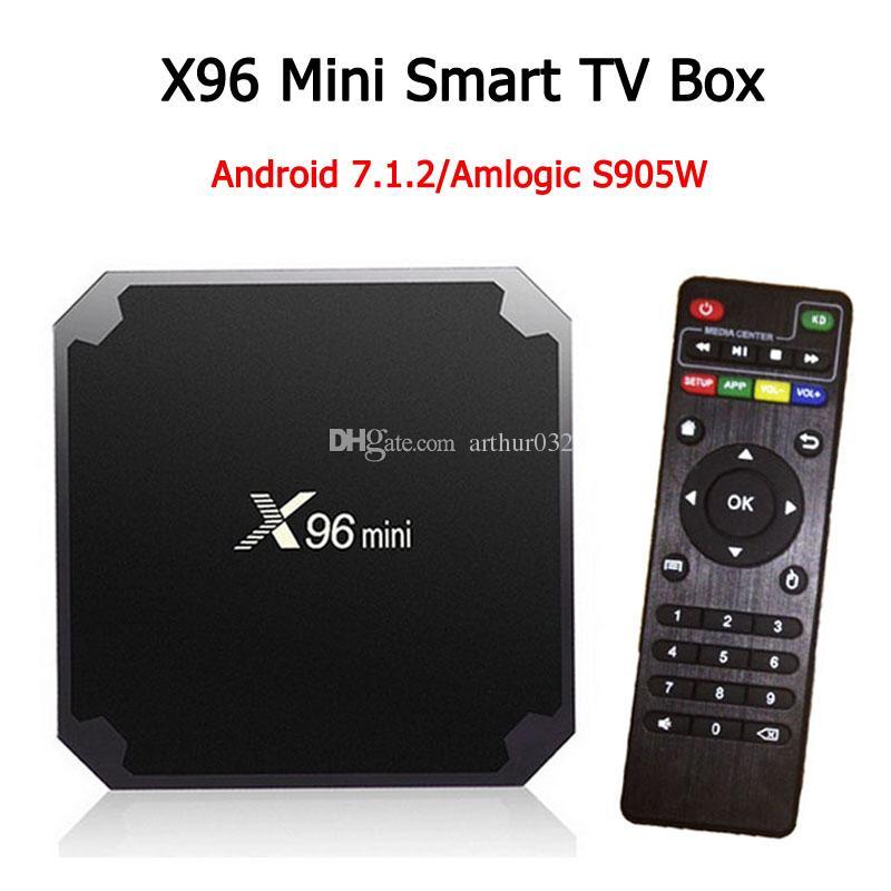 Android TV Box 2GB 16GB X96 mini Amlogic S905W IPTV Android N Beta build  Quad Core 100M Lan 2 4G WiFi 4K VP9 HDR10 Smart media player