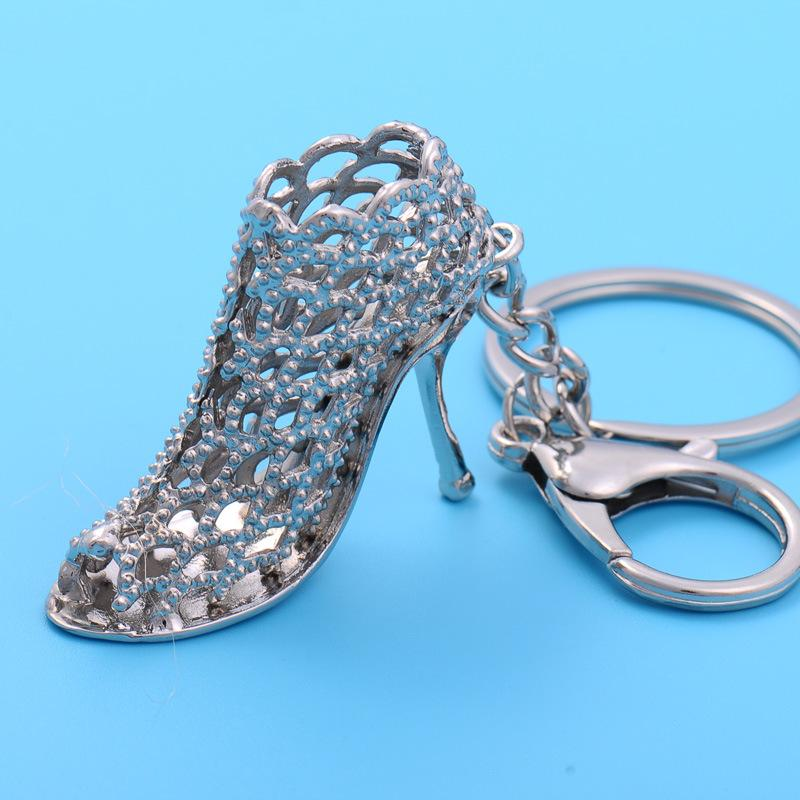 Crystal high-heeled shoes car key creative female bag ornaments key chain pendant personalized small gifts a161