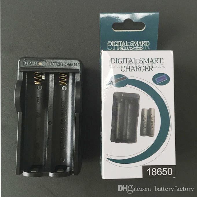 Livre DHL, 18650 carregador Para 18650 Bateria AC / Casa / Parede Dual Carregador com pacote de Varejo