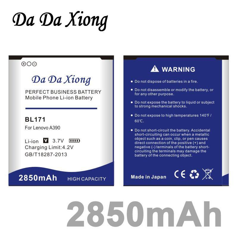 Da Da Xiong 2850mAh BL171 Batterie für Lenovo A356 A368 A390 A390 A376 A370E A500 A60 A65 A319