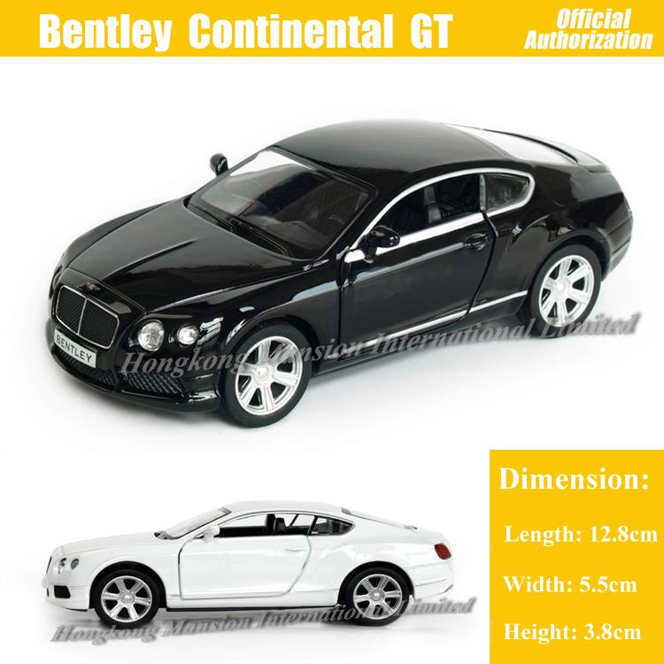 1:36 Scale Diecast Alloy Metal Car Model ForBentley Continental GT V8 Collection Model Pull Back Toys Car -Black/White/Red/Blue