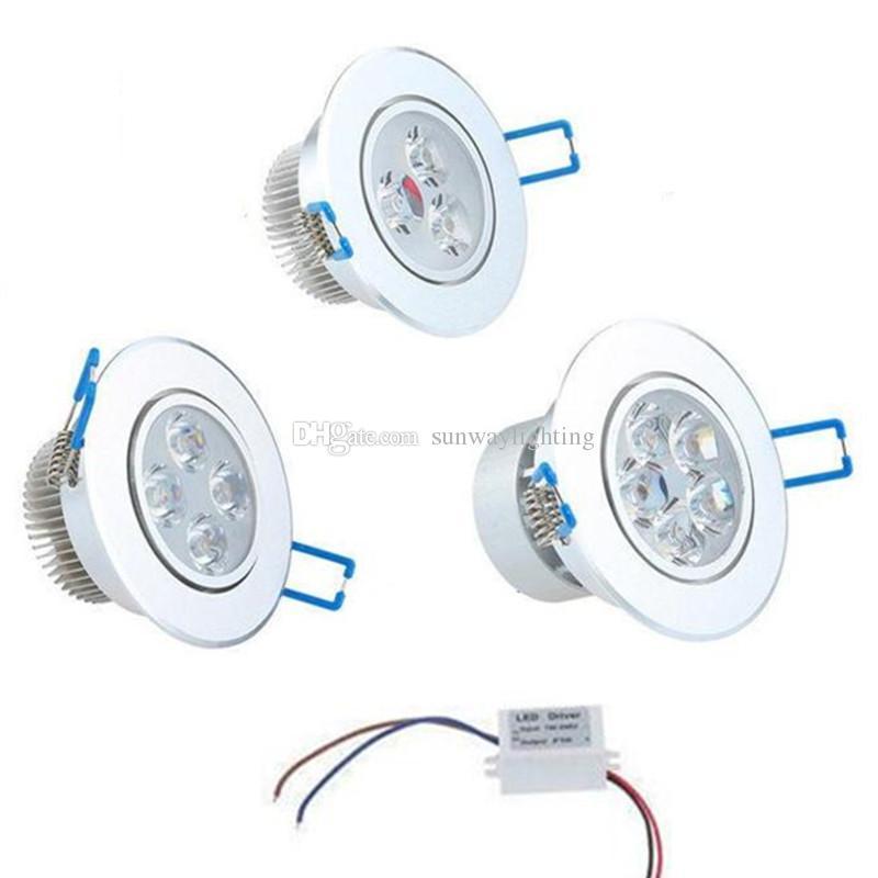 X3 عكس الضوء الصمام سقف بقعة دوونلايتس 3W 4W 5W 7W 9W 12W 15W راحة LED دوونلايتس الخفيفة الصمام أسفل أضواء مصابيح AC110-240V
